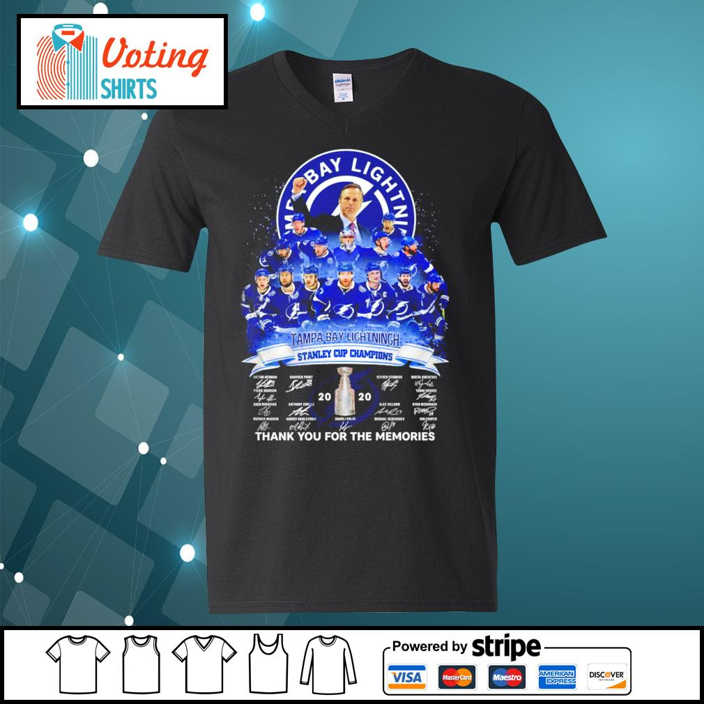 Tampa Bay Lightning stanley cup champions thank you for the memories s v-neck-t-shirt