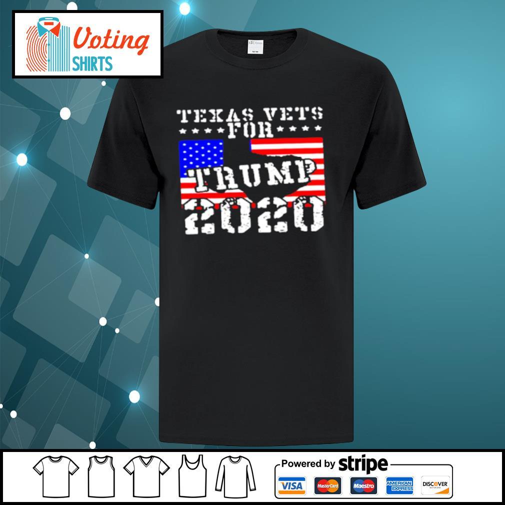 Texas vets for Trump 2020 shirt