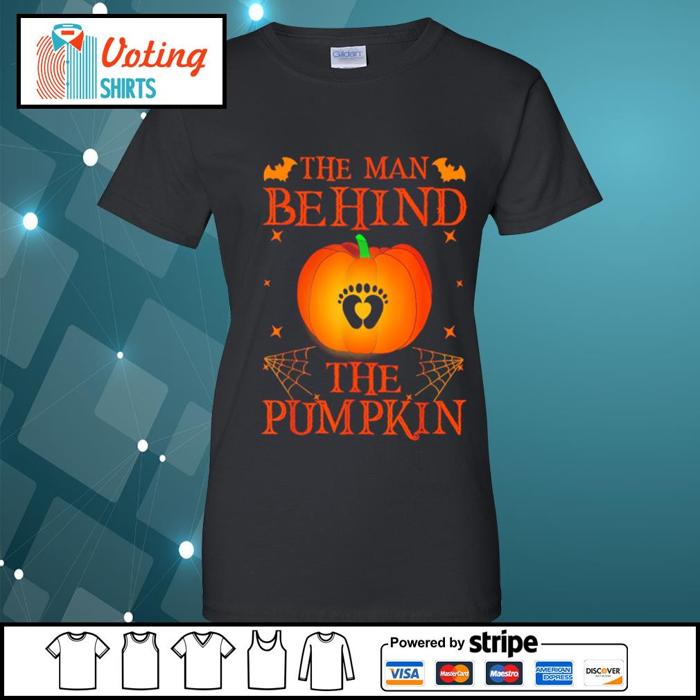 The man behind the pumpkin Halloween s ladies-tee