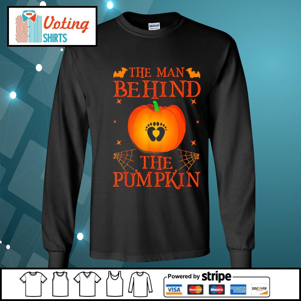 The man behind the pumpkin Halloween s longsleeve-tee