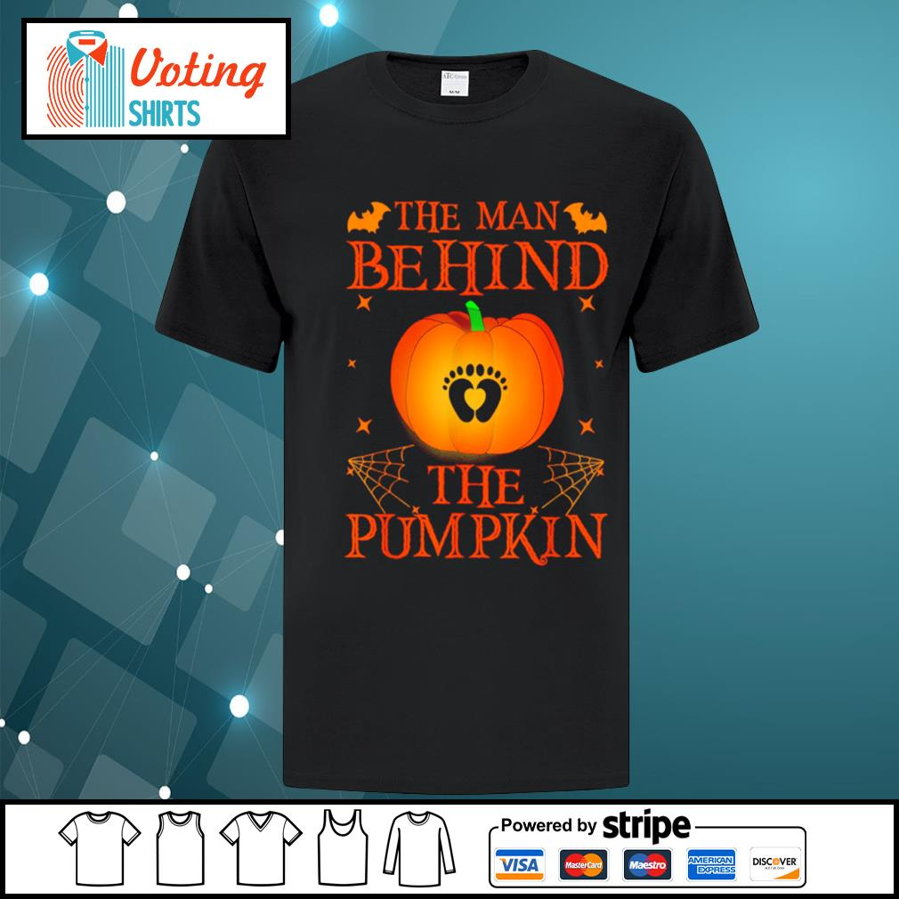The man behind the pumpkin Halloween shirt