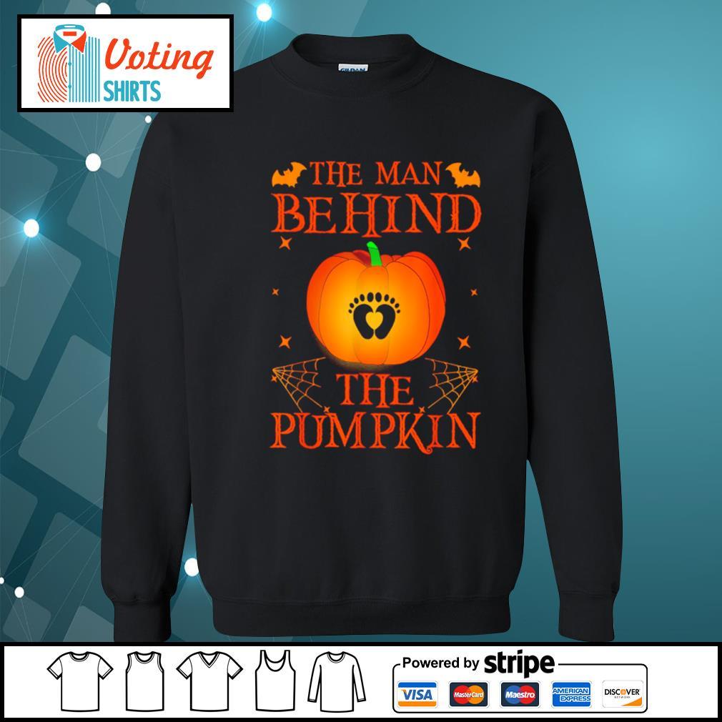 The man behind the pumpkin Halloween s sweater