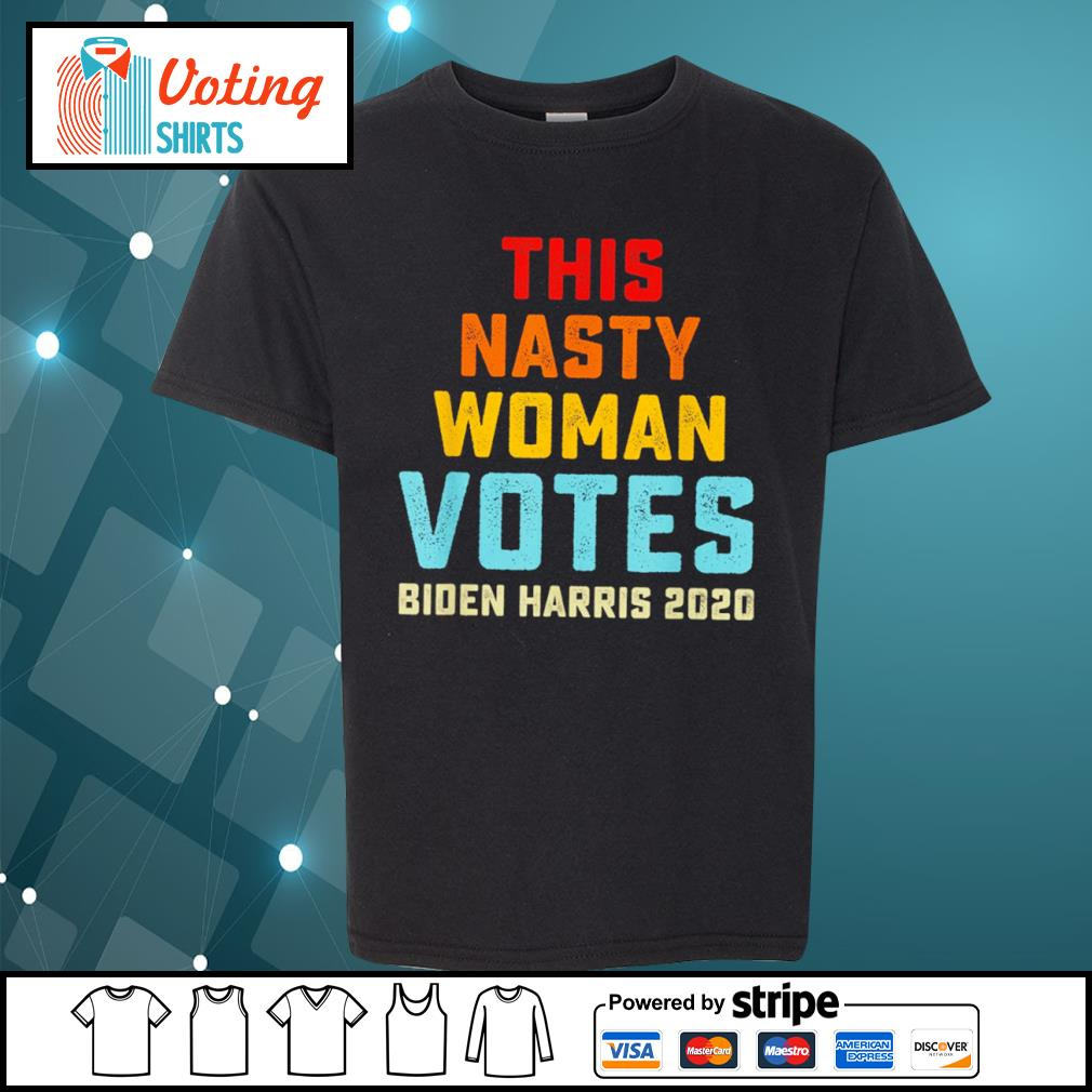 This nasty woman votes Biden Harris 2020 vintage s youth-tee