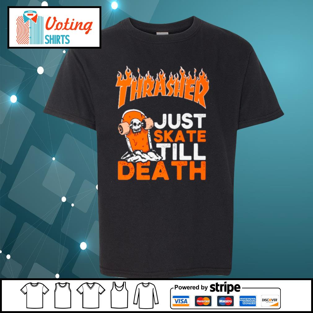 Thrasher just skate till death s youth-tee