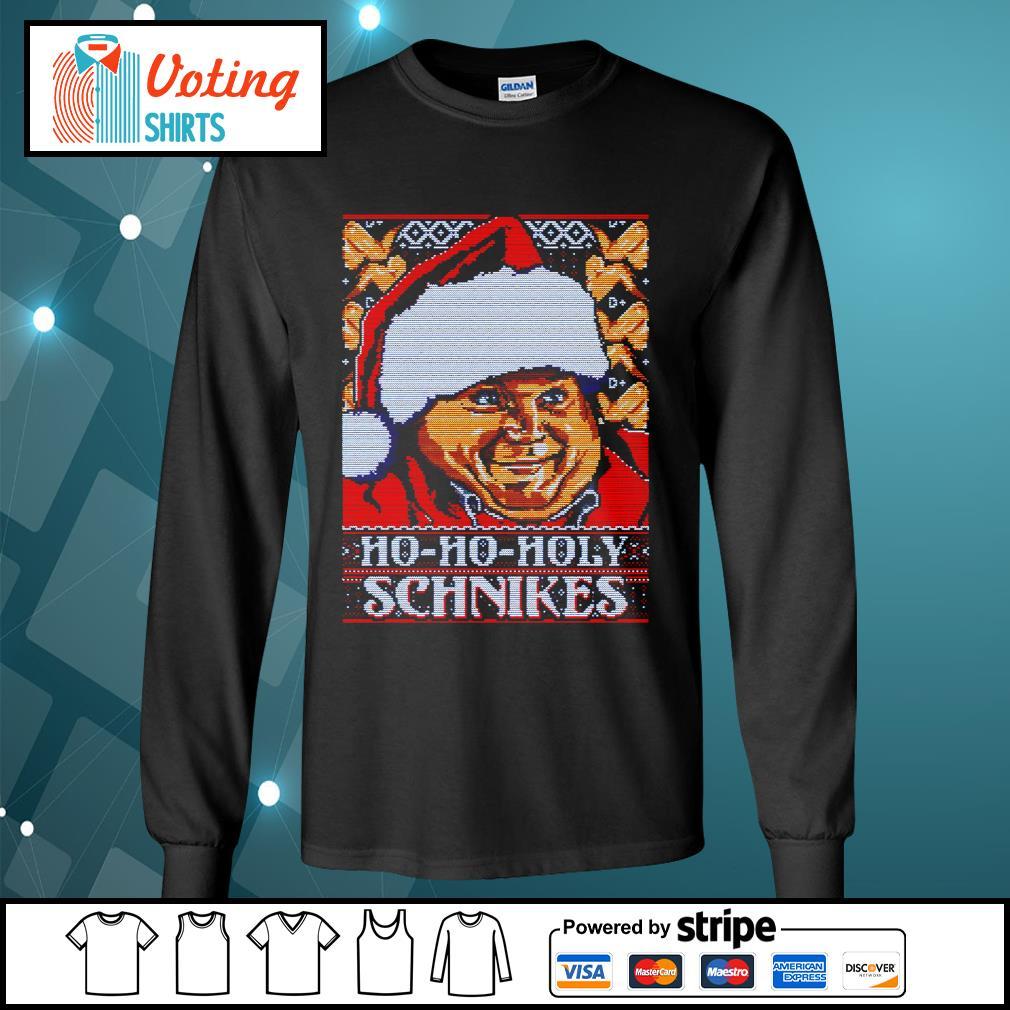 Tommy Boy Ho Ho Holy schnikes ugly Christmas s longsleeve-tee