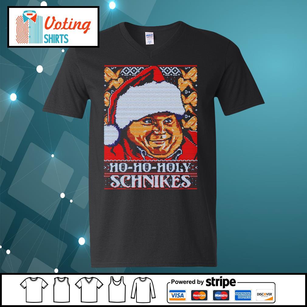 Tommy Boy Ho Ho Holy schnikes ugly Christmas s v-neck-t-shirt