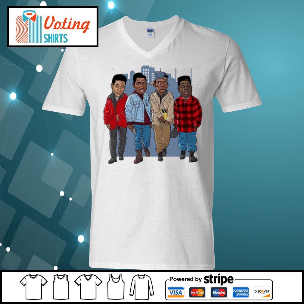 Tupac Cartoon s v-neck-t-shirt