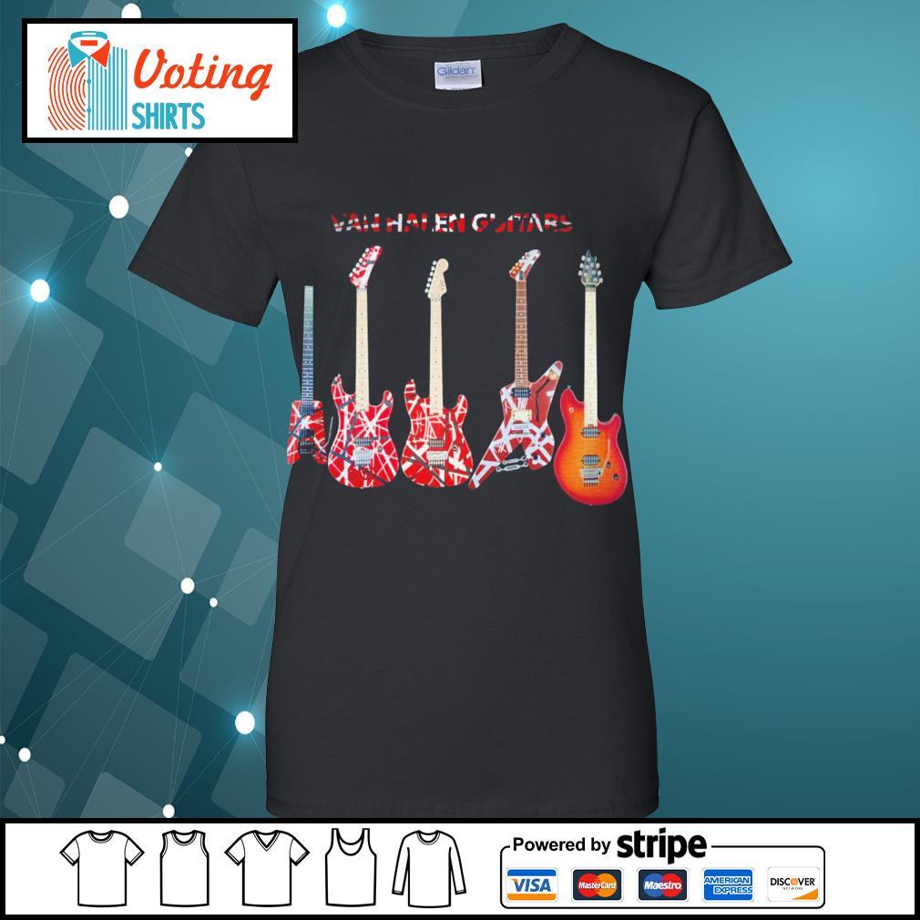 Van Halen guitars s ladies-tee