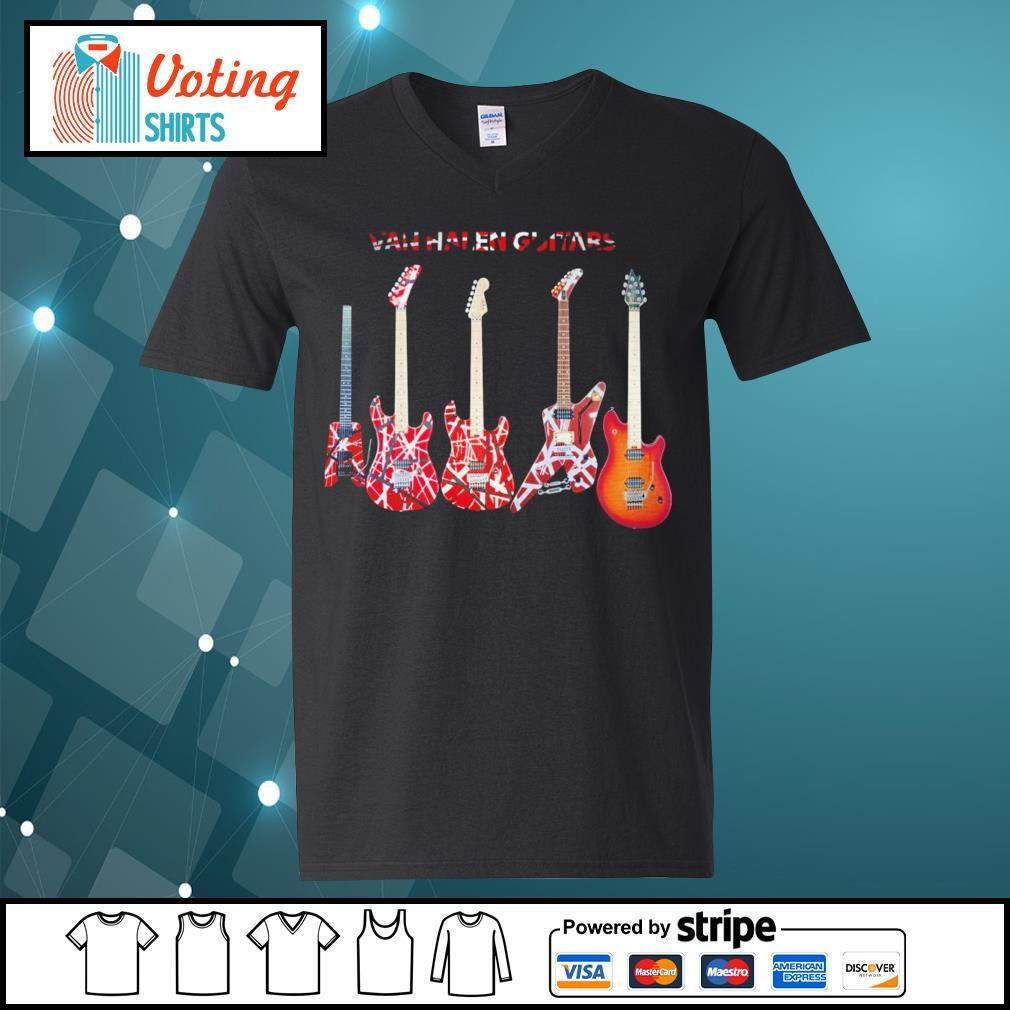 Van Halen guitars s v-neck-t-shirt