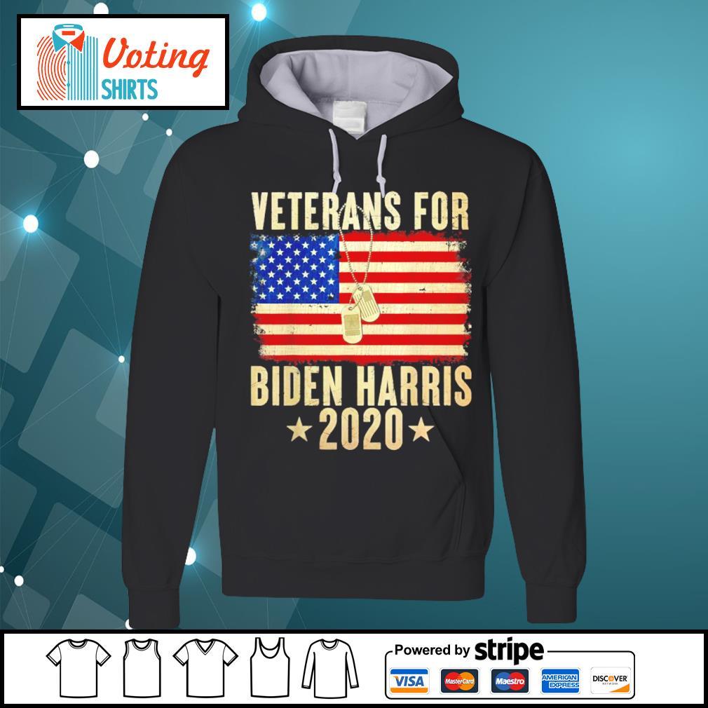 Veterans for Biden Harris 2020 American flag s hoodie
