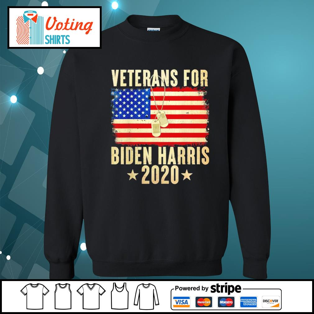Veterans for Biden Harris 2020 American flag s sweater