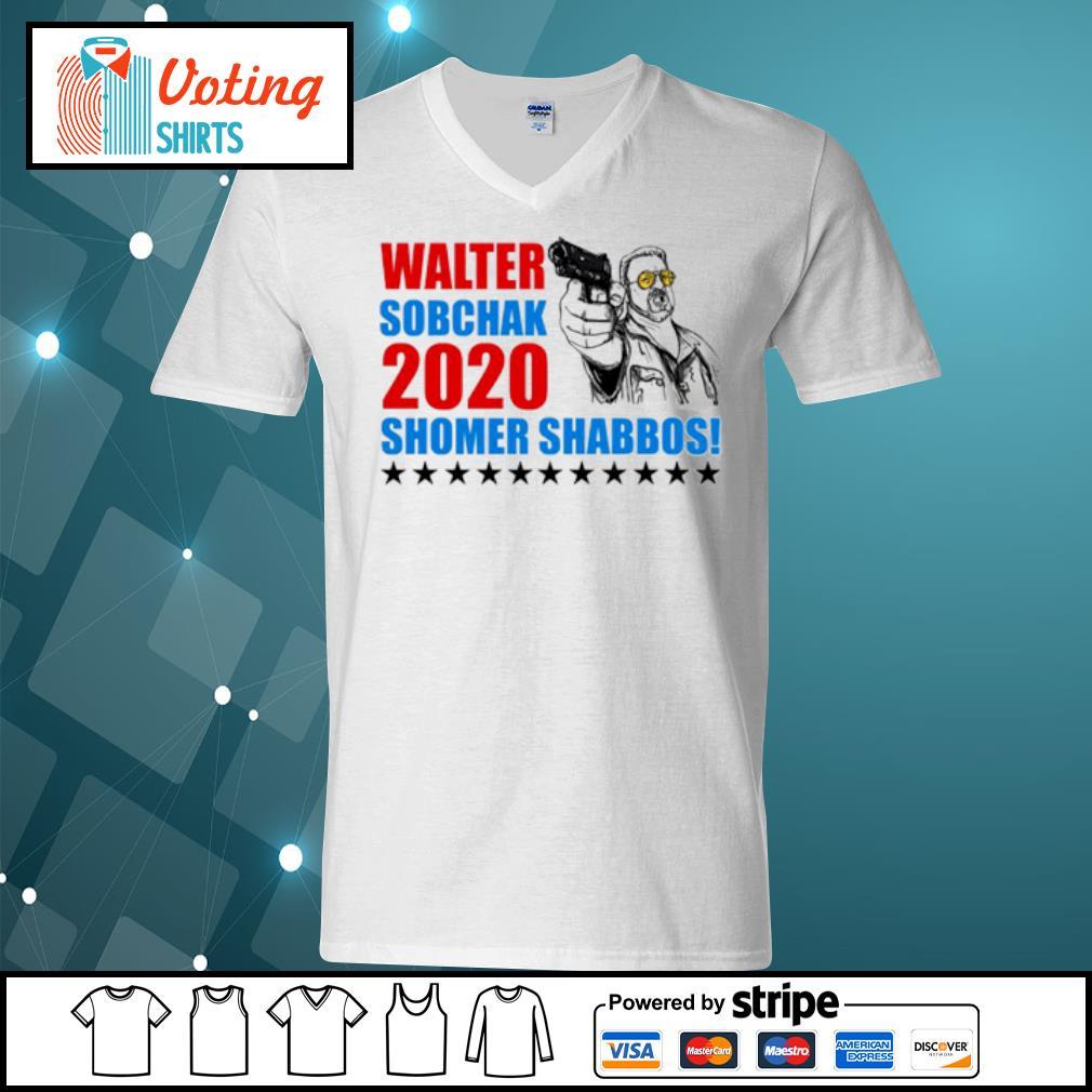 Walter Sobchak 2020 Shomer Shabbos s v-neck-t-shirt