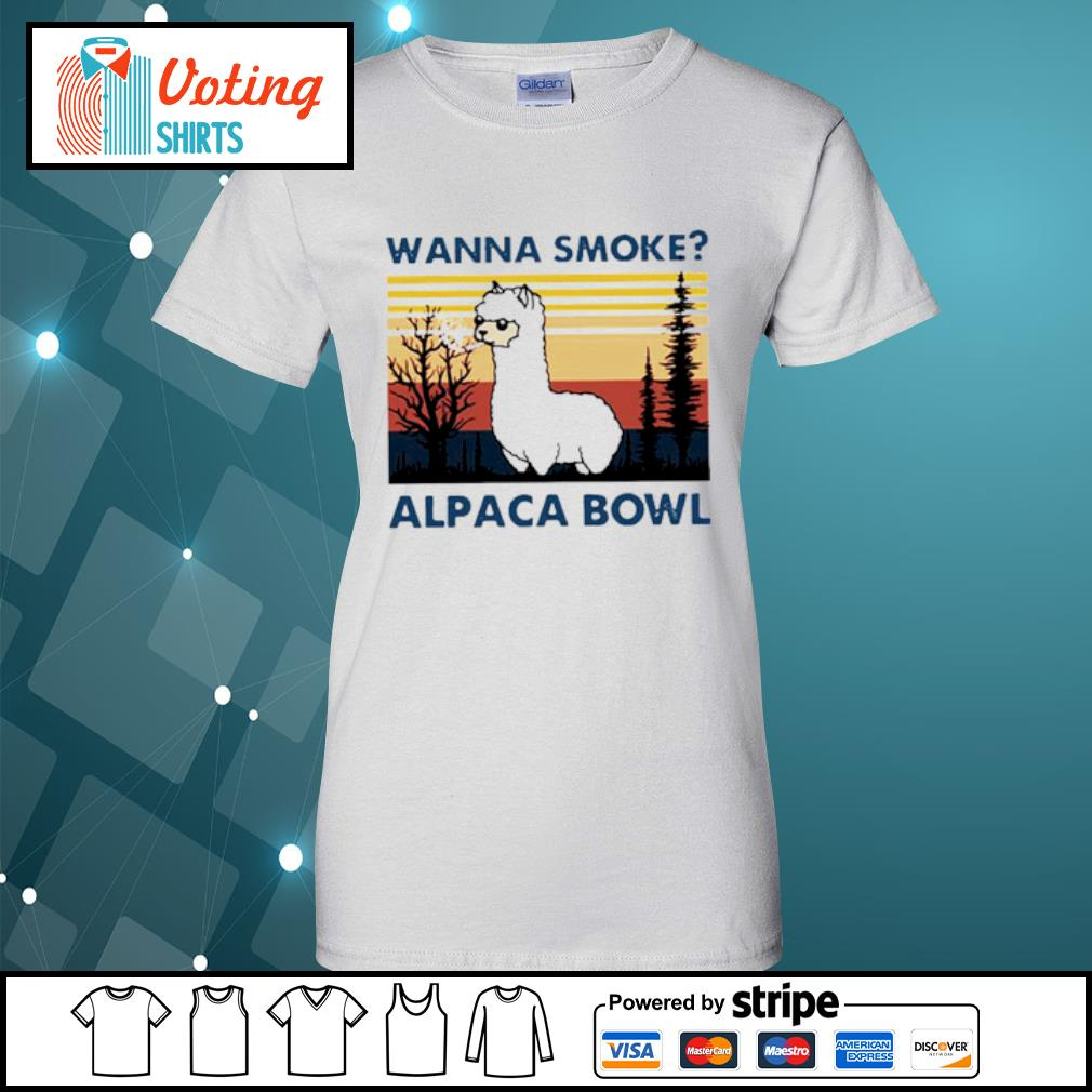Wanna smoke alpaca bowl vintage s ladies-tee