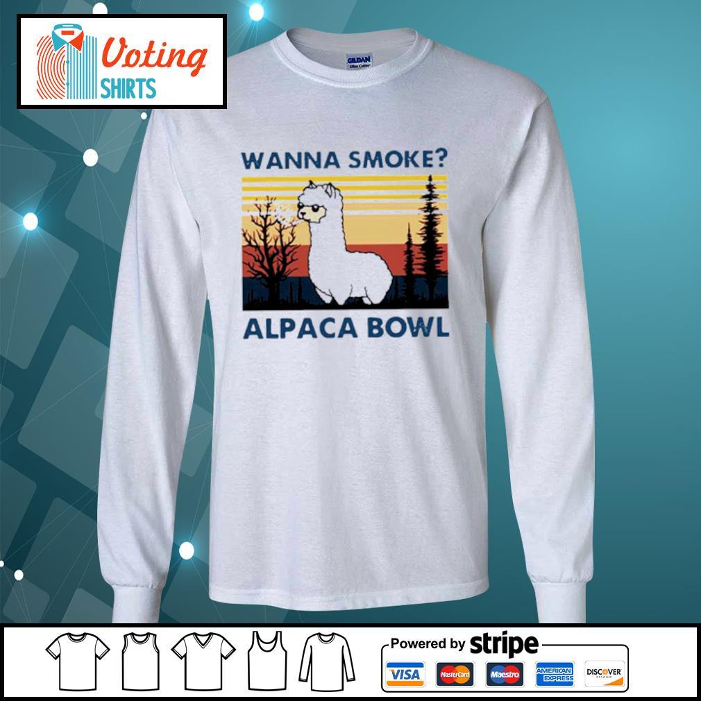 Wanna smoke alpaca bowl vintage s longsleeve-tee
