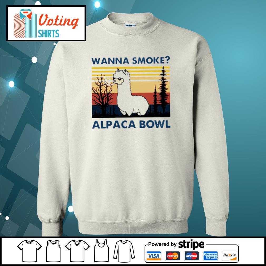 Wanna smoke alpaca bowl vintage s sweater