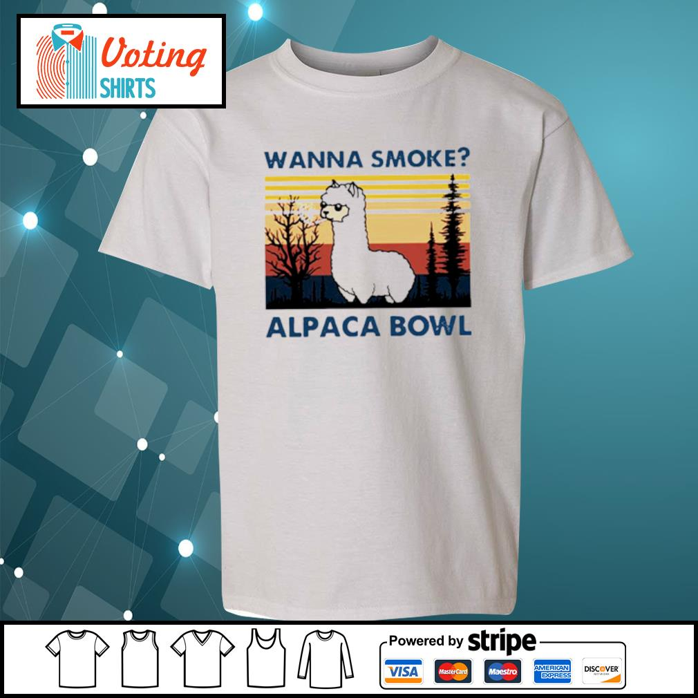 Wanna smoke alpaca bowl vintage s youth-tee