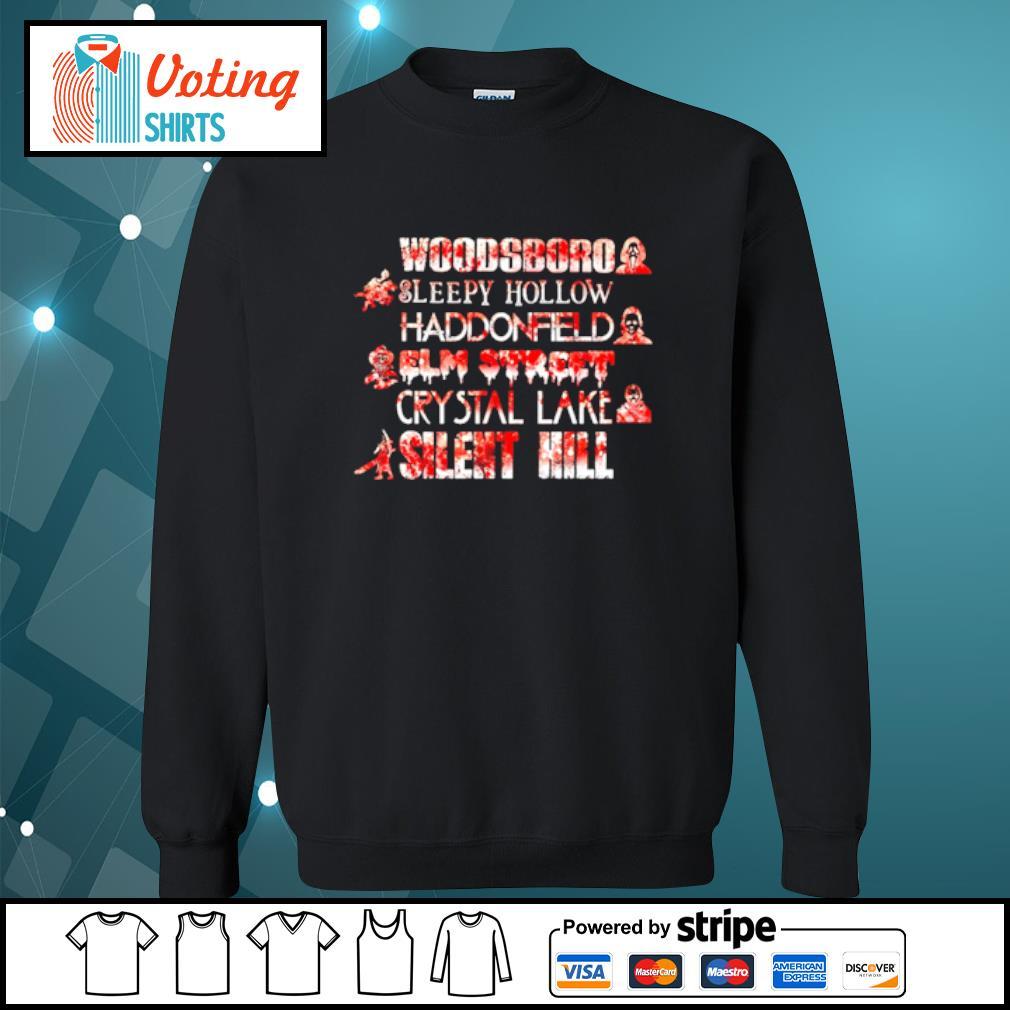 Woodsboro sleepy hollow Haddonfield elm street crystal lake silent hill Halloween s sweater