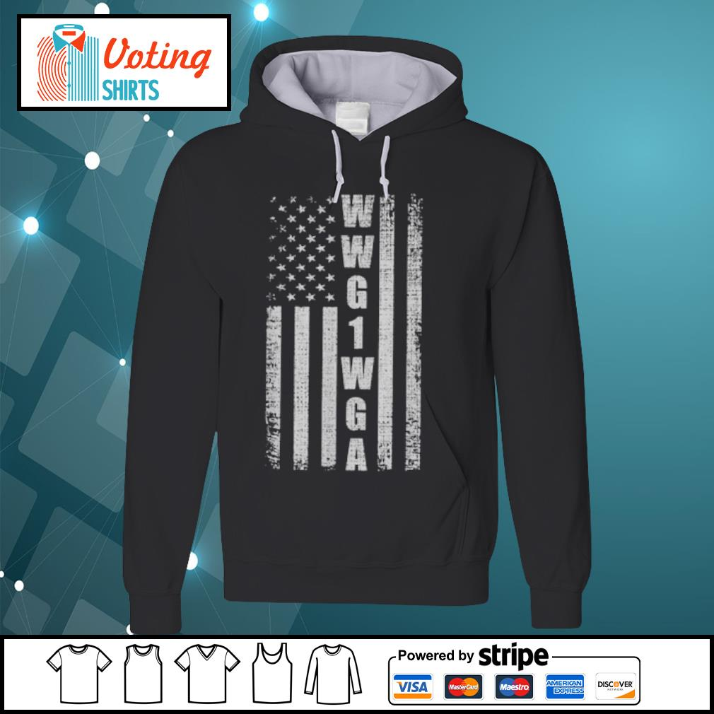 WWG1WGA US flag retro s hoodie