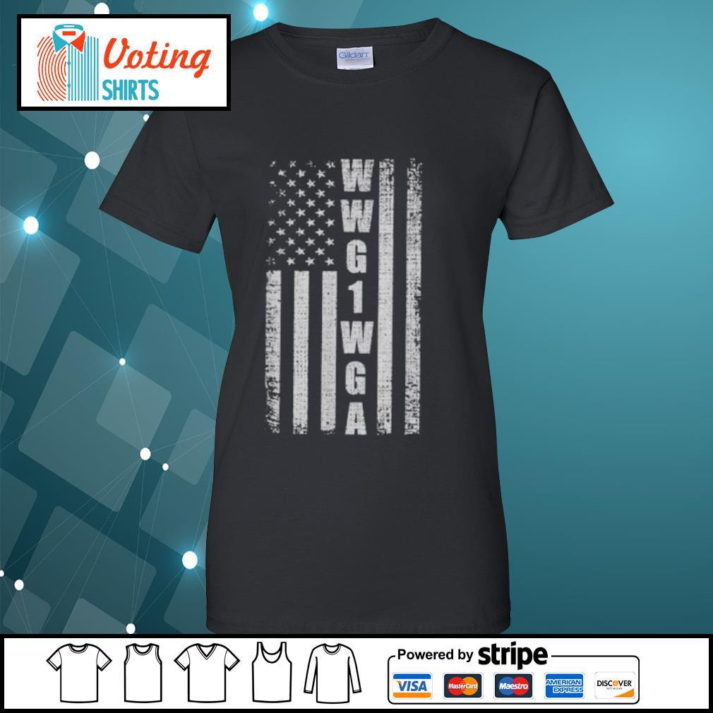 WWG1WGA US flag retro s ladies-tee