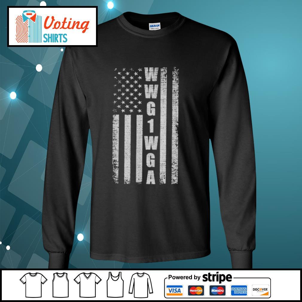 WWG1WGA US flag retro s longsleeve-tee