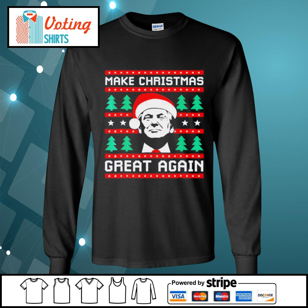 Make Christmas Great Again T-Shirt Navy Adults /& Kids Sizes Trump Gift